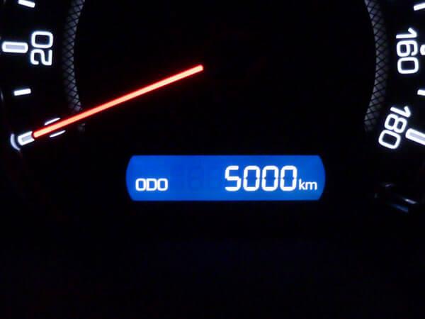 【愛車トヨタノア80系】走行距離5,000kmになりました!