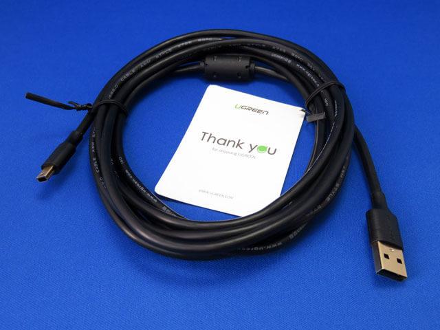 UGREEN ミニUSBケーブル USB2.0 Aオス-miniBオス 3mを購入する!