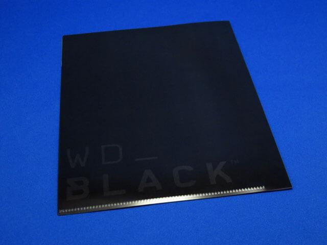 #WD_BLACK の ステッカー&A5クリアファイルが届く