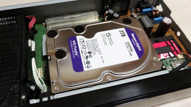 Panasonic DIGA DMR-BXT870の内蔵HDDを換装する!
