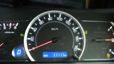 愛車トヨタノア80系の走行距離が11,111kmになりました!